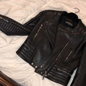 BALMAIN MOTORCYCLE JACKET- WOMENS